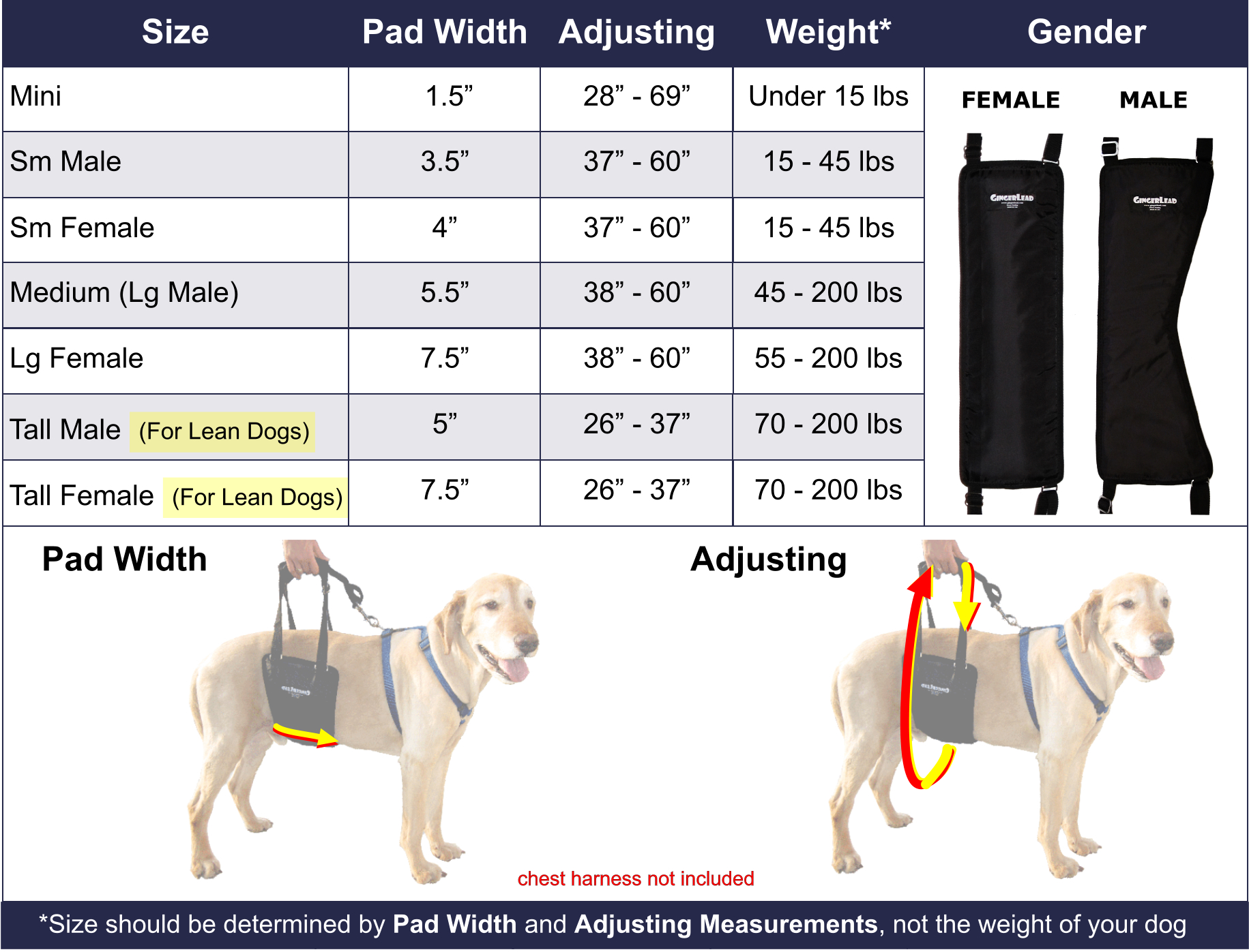 Gingerlead dog sling sizing rear support harnesses for toy to gingerlead dog sling sizing rear support harnesses for toy to giant breed dogs nvjuhfo Image collections